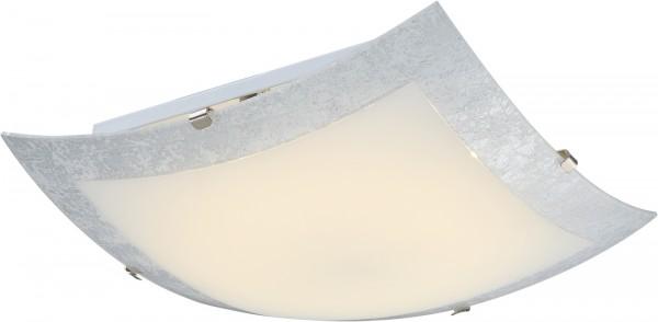 GLOBO Deckenleuchte Deckenlampe quadratisch Glas Chrom 40442
