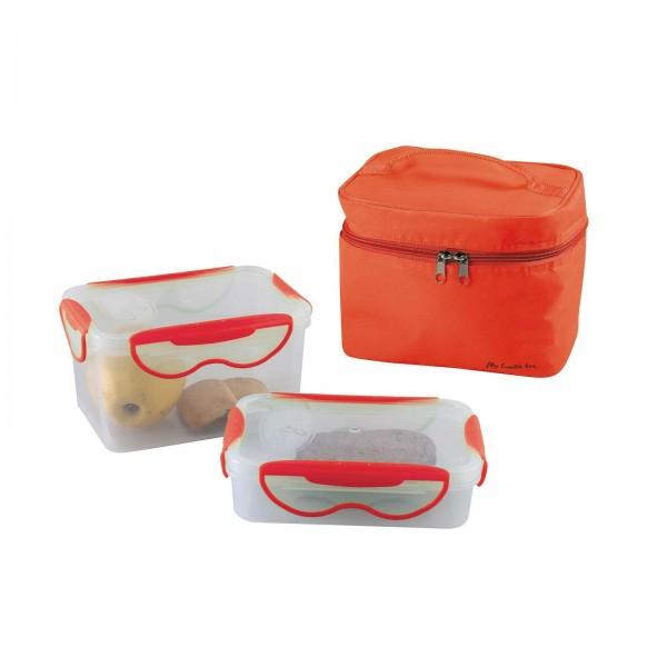 BeNomad Lunchbox 2 luftdichte Behälter Transporttasche orange SEP109R
