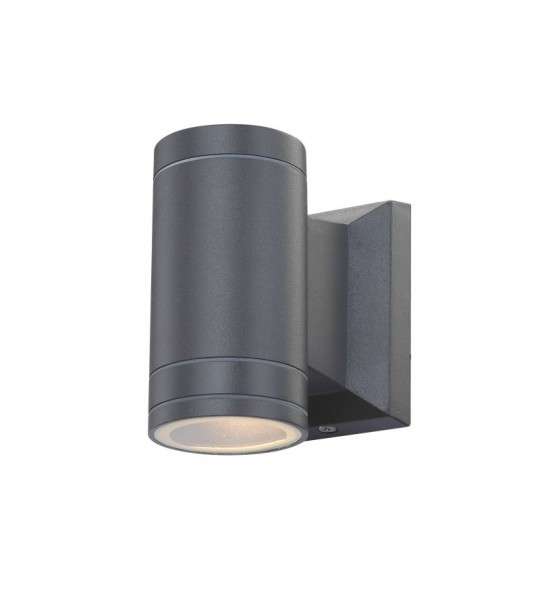 GLOBO LED Außenlampe Außenleuchte Lampe Aluminium grau Glas 32028