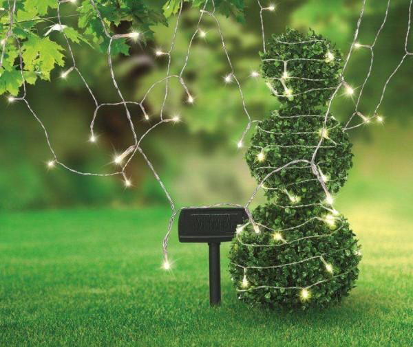 GLOBO Solarleuchte Lichterkette 10 Meter IP44 Gartenparty 33700-50