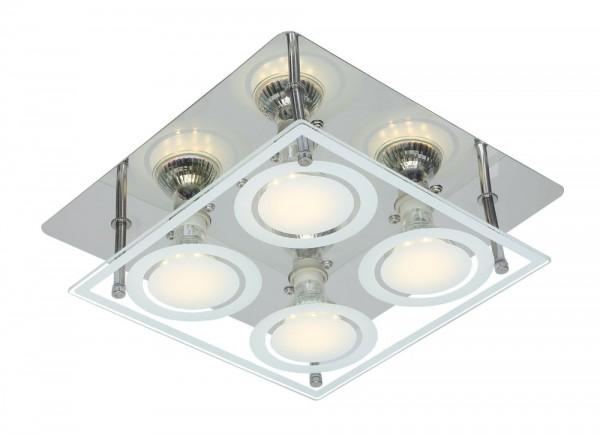 GLOBO LED Deckenbeleuchtung eckig Deckenlampe Deckenleuchte 48961-4