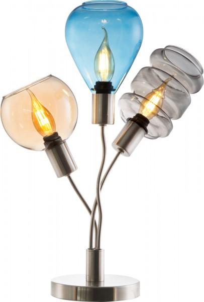 Nino Leuchten Tischleuchte Tischlampe Glas bunt 3-flammig 50580301