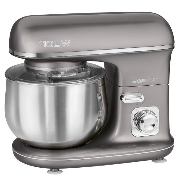 CLATRONIC Knetmaschine Rührmaschine Küchenmaschine 1100W KM 3712 titan