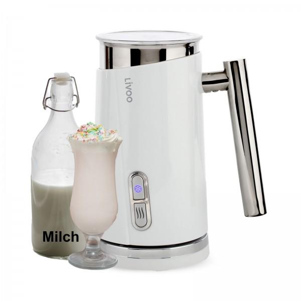 LIVOO Milchschäumer Milchaufschäumer heiß-kalt 500 Watt LED DOD177