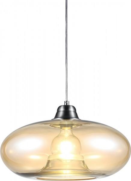 Nino Leuchten Pendelleuchte Hängeleuchte Glas Design 30040123 amber