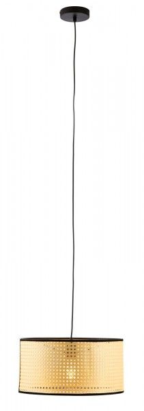Nino Leuchten Pendelleuchte Pendellampe Rattanoptik Papier 31750108