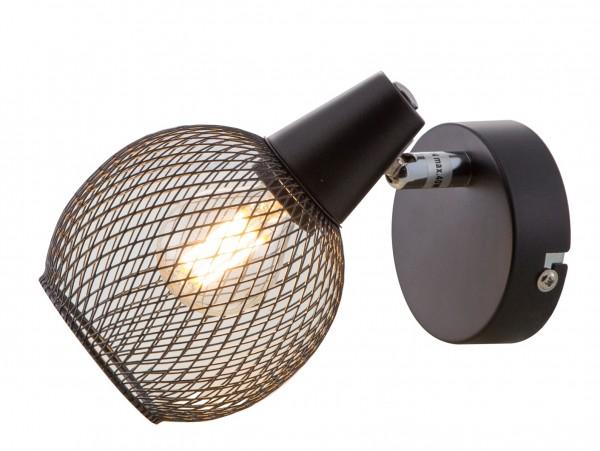 Nino Leuchten Wandleuchte Wandlampe schwarz Drahtgeflecht 81020108