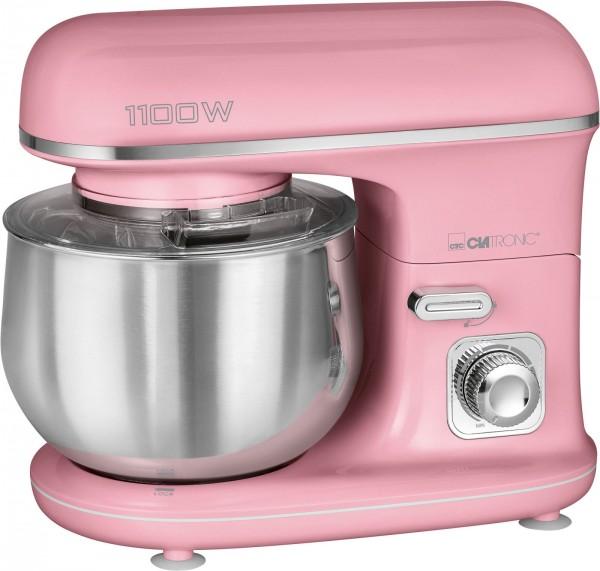 CLATRONIC Knetmaschine Rührmaschine Küchenmaschine 1100W KM 3711 pink