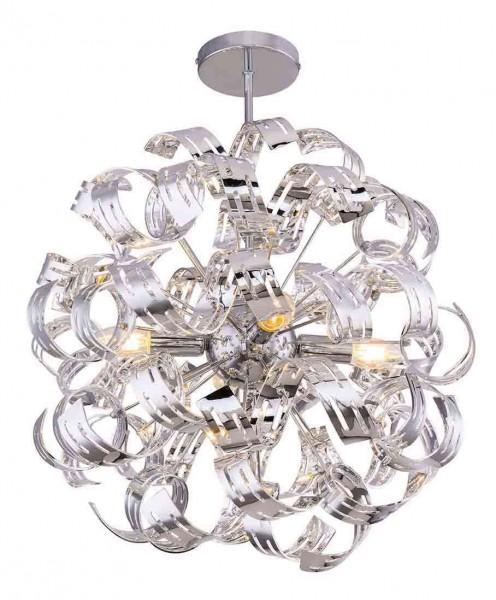 GLOBO FALLA Deckenleuchte Deckenlampe Chrombänder 51505-4D
