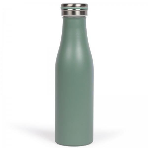 LIVOO Thermosflasche 0,5 Liter Edelstahl Isolierflasche MEN392S grün