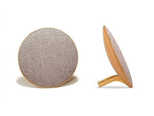 LIVOO Lautsprecher Bluetooth Design Lithium-Akku TES206BC helles Holz