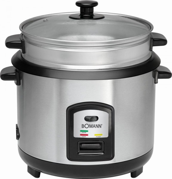 BOMANN Reis-Kocher Multi-Kocher Dampf-Garer 700 W inkl. Löffel RK 2282