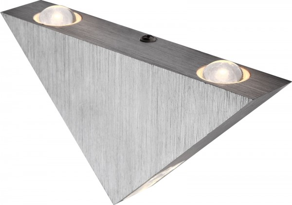 Globo Wandleuchte Wandlampe Design Aluminium gebürstet 7601