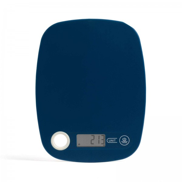 LIVOO digitale Küchenwaage schlank Tara-Funktion DOM354B blau