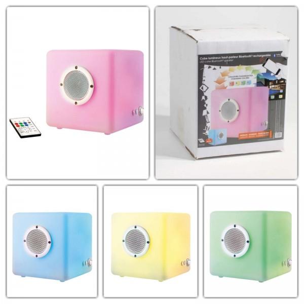 EssentielleDeco Bluetooth-Lautsprecher Fernbedienung Farbwechsel LH72