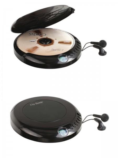 ClipSonic CD-Player tragbar Kopfhörer LCD-Display CD-R / CD-RW TES171