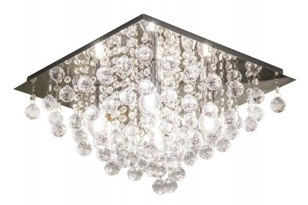 Nino Leuchten Deckenleuchte E14 5-flammig Acrylkristall 63049506 eckig