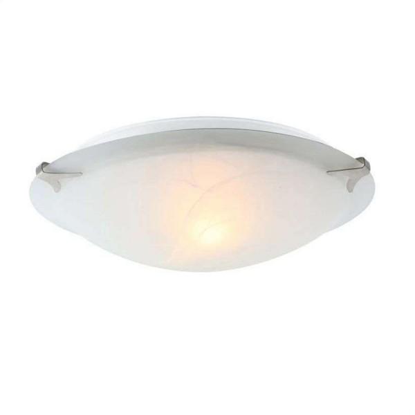 GLOBO Fred Deckenleuchte Deckenlampe Leuchte Alabaster-Optik weiß 4070