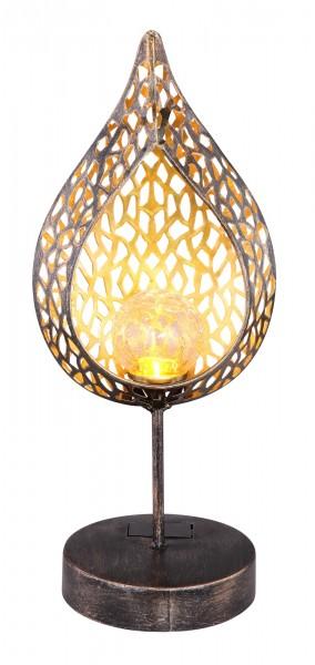 GLOBO LED-Außenleuchte Solarleuchte Dekoleuchte Flamme 33528 gold