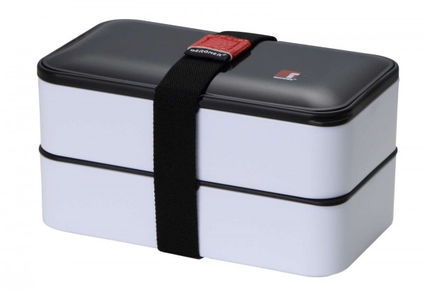 BERGNER Picknick Dosen 2-tlg. Speisenbehälter Lunch Box BG-5754-WH