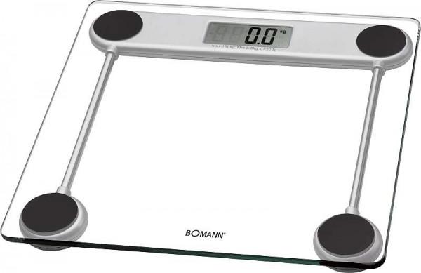 BOMANN Personenwaage LCD-Display 2,5 bis 150 kg Glas 30 x 30cm PW 1417
