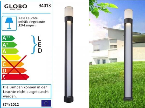 GLOBO Nexa Außenleuchte rund lang Aluminium-Druckguss LED 34013