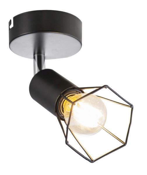 Nino Leuchten Wandleuchte Wandlampe E14 Metall schwarz Draht 81080108