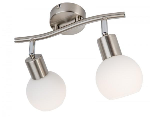 Nino Leuchten LED-Deckenleuchte Deckenlampe 2-flammig Opalglas 87160201