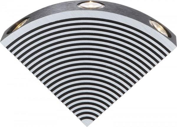 GLOBO Smokey LED Wandlampe Wandleuchte Leuchte Beleuchtung Alu 7608