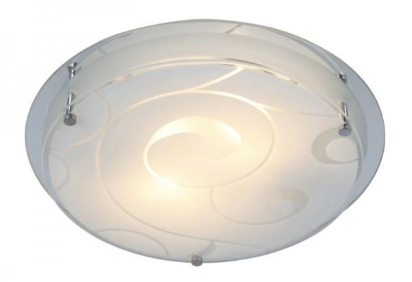 GLOBO Kristjana Deckenlampe Deckenleuchte 25 cm satiniert Dekor 48060