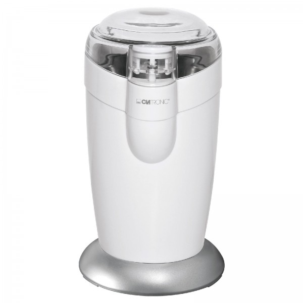 Clatronic Edelstahl Kaffeemühle mit Schlagwerk 120 Watt KSW 3306 weiss