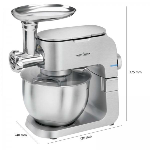 PROFICOOK Knetmaschine Fleischwolf Küchenmaschine 1300 Watt PC-KM 1151