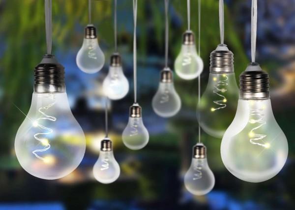 GLOBO Solarleuchte Lichterkette Glühbirnen Gartenparty 33708-10