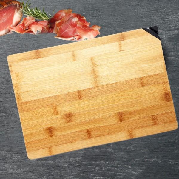 BERGNER Schneidebrett 33 cm Bambus Küchenbrett Frühstücksbrett BG-8918