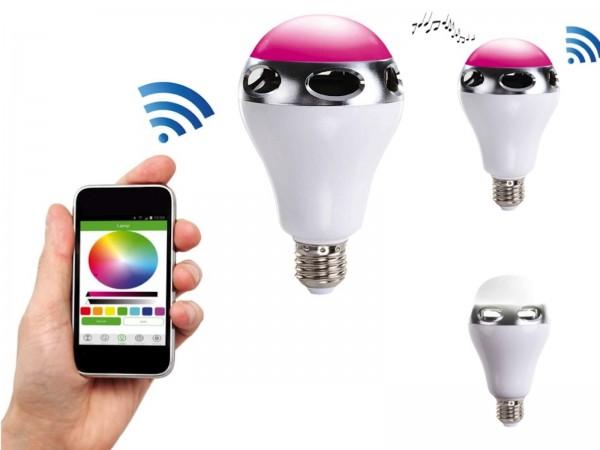 ClipSonic LED-Glühbirne Bluetooth-Lautsprecher Farbwechsel TEC581