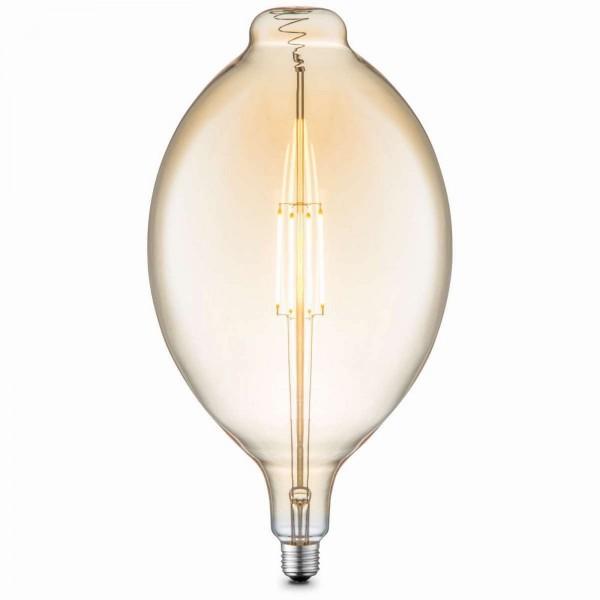 GLOBO LED-Leuchtmittel Glühbirne retro Glas amber 18 cm 11477