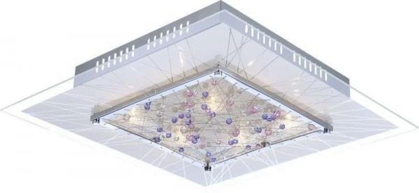 GLOBO Deckenleuchte Deckenlampe Dekor-Kristalle Glas 52 cm 48430-9