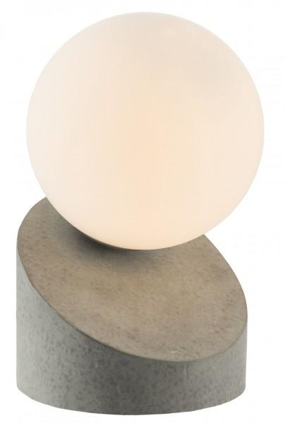 Nino Leuchten Tischleuchte Tischlampe Glaskugel Touch 50300148 Beton
