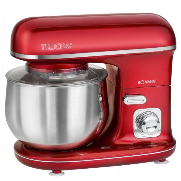 BOMANN Knetmaschine Rührmaschine Küchenmaschine 1100W KM 6010 rot