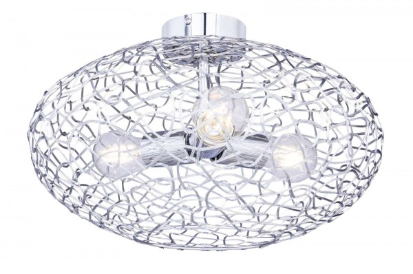 GLOBO ARYA Deckenleuchte Deckenlampe Aluminiumgeflecht 15269-3D