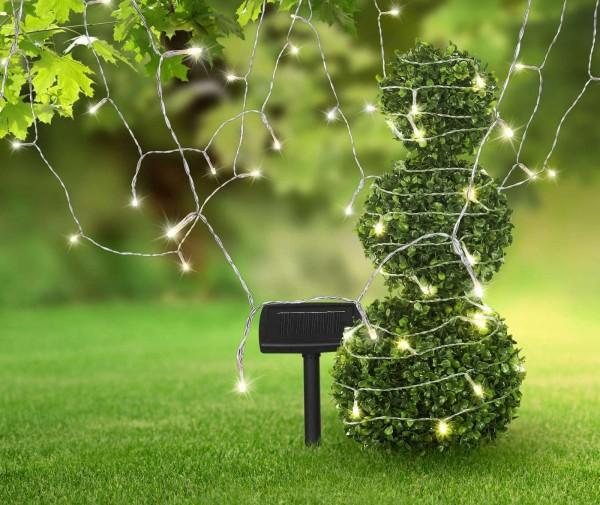 GLOBO Solarleuchte Lichterkette 20 Meter IP44 Garten 33700-120