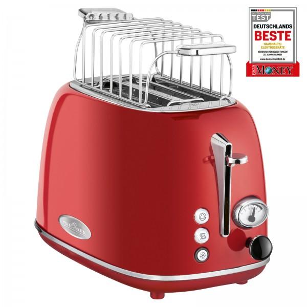 PROFICOOK Toaster 2-Scheibentoaster Vintage Wide Slot PC-TA 1193 rot