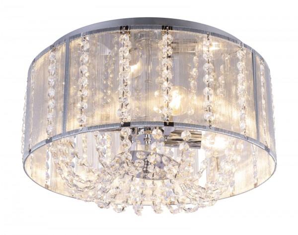 GLOBO WALLA Deckenleuchte Deckenlampe rund K5-Kristalle 15091D