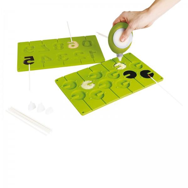 KitchenArtist Lollipop-Set Lutscher selber machen Silikon MEN316