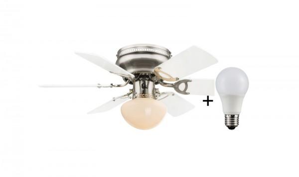 GLOBO Deckenventilator mit LED Beleuchtung Leuchte Luftkühler 0307WLED