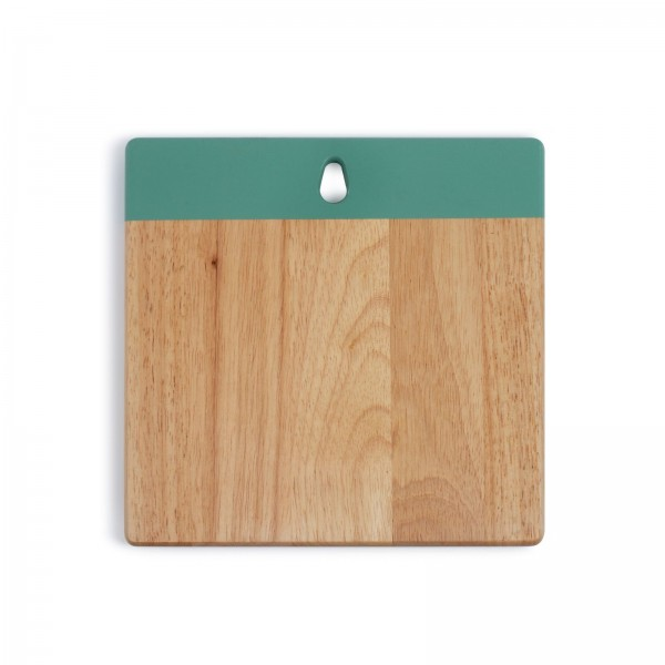 LIVOO Schneidebrett Küchenbrett Gummibaumholz quadratisch MES128