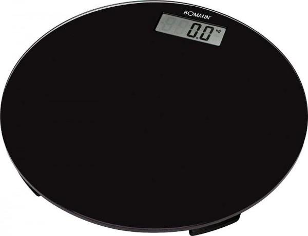 BOMANN Personenwaage mit LCD-Display 2,5 bis 150 kg Glas rund PW 1418