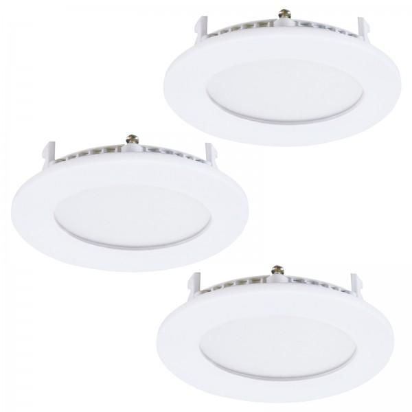 EGLO Einbauleuchten Unterputzleuchten rund LED Metallguss 34014 weiß