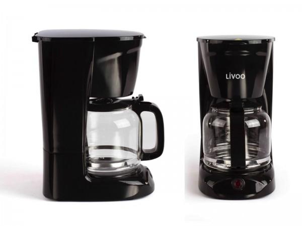 LIVOO Kaffeemaschine 15 Tassen Permanentfilter DOD166N schwarz
