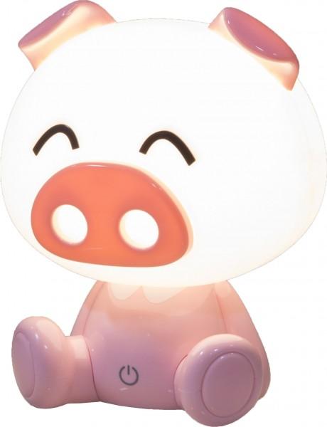 Nino Leuchten Kinder Nachttischleuchte Schwein dimmbar LED 52030121